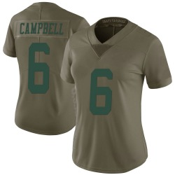 Nike George Campbell New York Jets Women's Limited Green 2017 Salute to Service Jersey