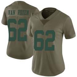 Nike Greg Van Roten New York Jets Women's Limited Green 2017 Salute to Service Jersey