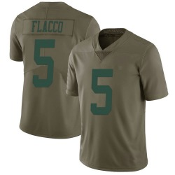 Joe Flacco New York Jets Men's Limited Green 2017 Salute to Service Jersey