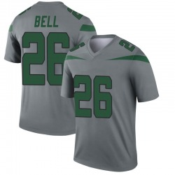 Nike Le'Veon Bell New York Jets Men's Legend Gray Inverted Jersey