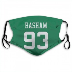 Tarell Basham New York Jets Green Jersey Name and Number Face Mask