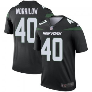Nike Paul Worrilow New York Jets Youth Legend Stealth Black Color Rush Jersey