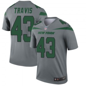 Nike Ross Travis New York Jets Youth Legend Gray Inverted Jersey