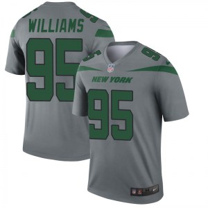 Nike Quinnen Williams New York Jets Youth Legend Gray Inverted Jersey