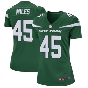 Nike Rontez Miles New York Jets Women's Game Gotham Green Jersey
