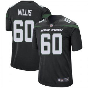 Nike Jordan Willis New York Jets Youth Game Stealth Black Jersey
