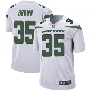 Nike Kyron Brown New York Jets Youth Game Spotlight White Jersey